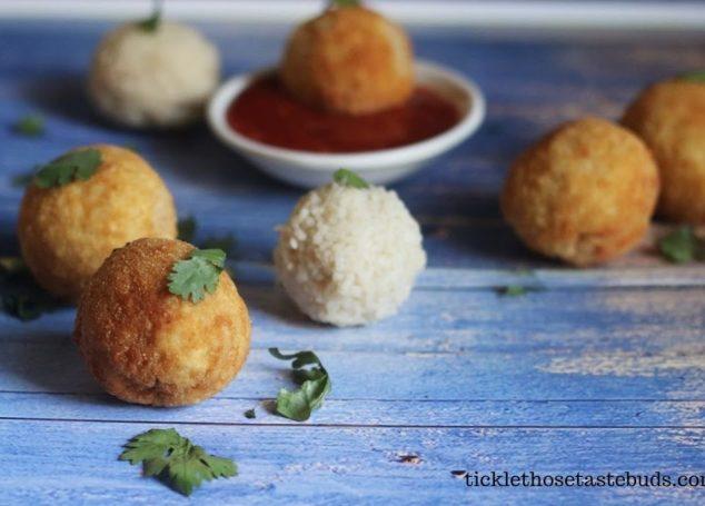 Vegetable-Stuffed Rice Balls