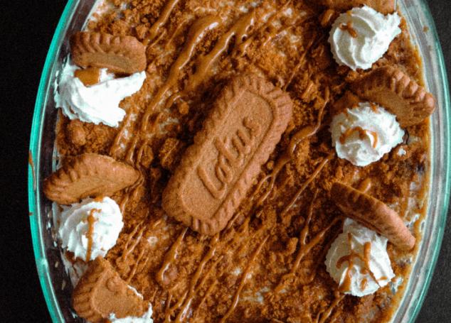 Lotus Biscoff Cheesecake Brownie Trifle