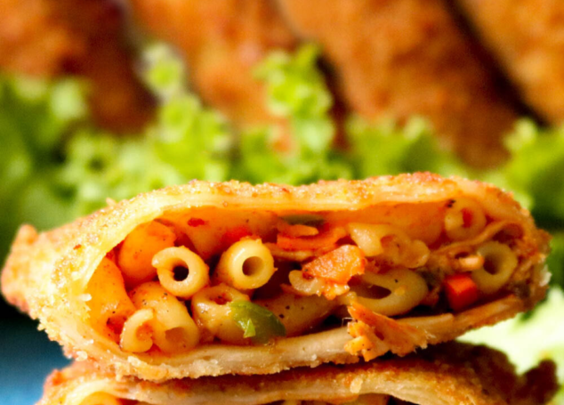 Crispy Vegetable Macaroni Parcels