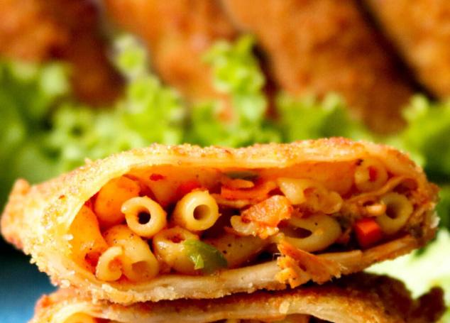 Crispy Vegetable Macaroni Parcels