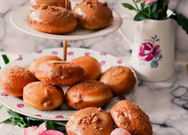 Biscoff Filled Doughnuts